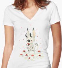 Little Monster Women's Fitted V-Neck T-Shirt