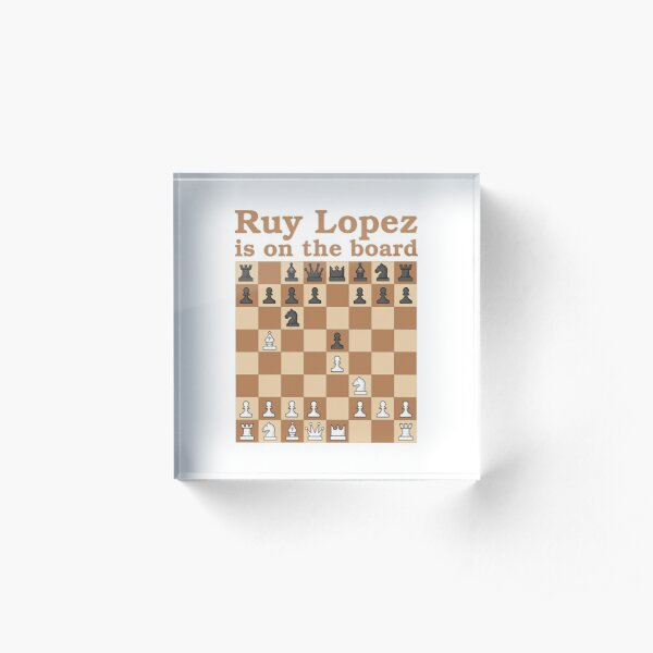 Chess Ruy Lopez is on the board v3 Acrylic Block