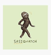 Sassquatch Photographic Print
