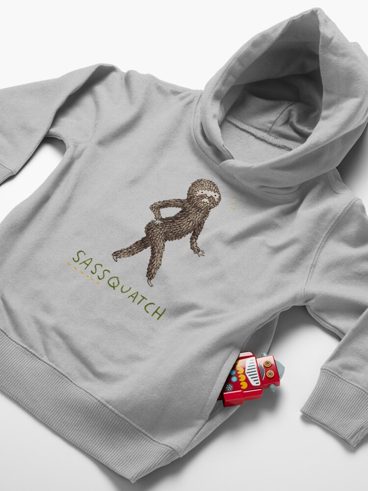 Alternate view of Sassquatch Toddler Pullover Hoodie