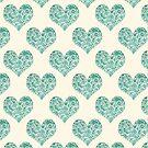 Emerald Brocade Paisley Heart Pattern by Tangerine-Tane
