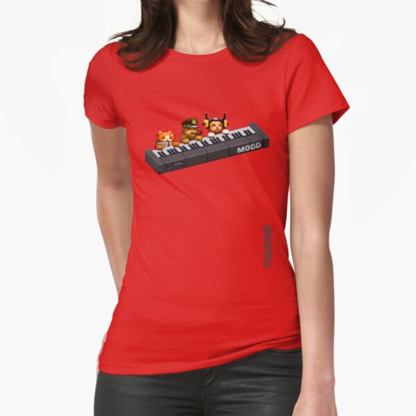 AQUA KITTY - Piano cats Fitted T-Shirt