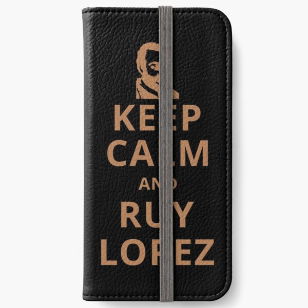 Chess Keep Calm and Ruy Lopez (brown) iPhone Wallet