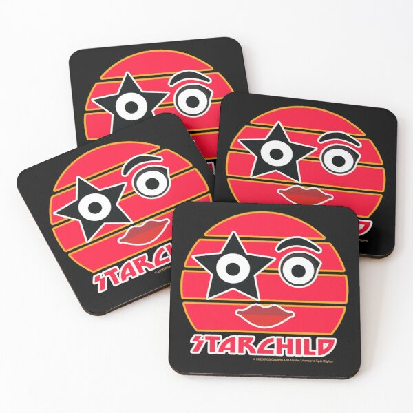 The Starchild KISS the Band  Coasters (Set of 4)
