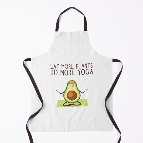 Eat More Plants Do More Yoga Apron