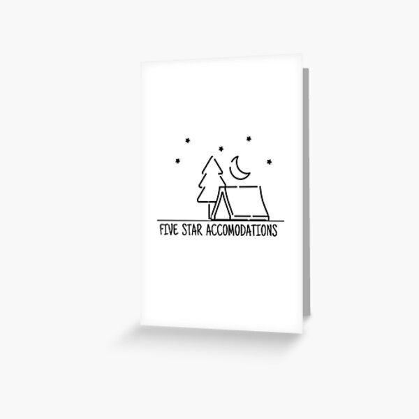 Five Star Accomodations Greeting Card