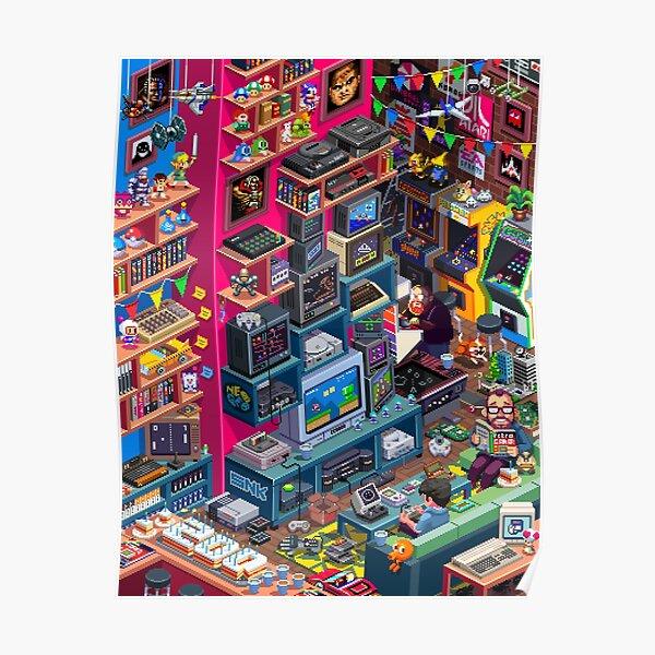 Retro Gamer Poster Poster