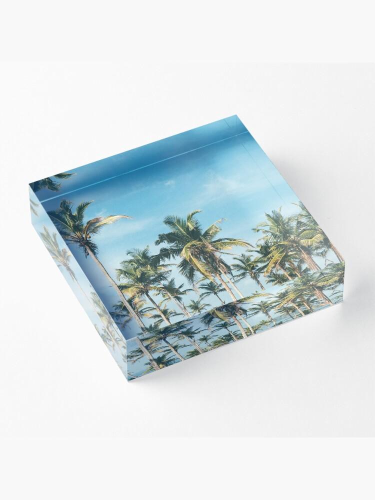 Alternate view of Palmtrees blue sky Acrylic Block