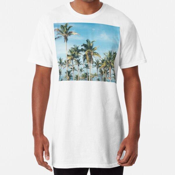 Palmtrees blue sky Long T-Shirt