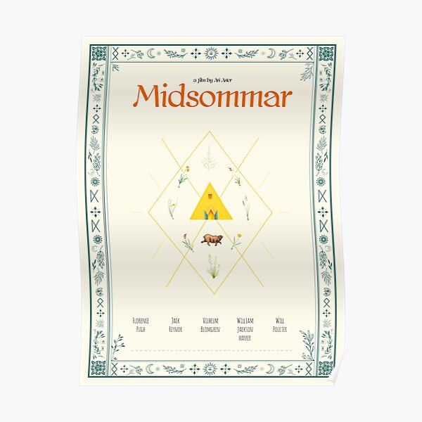 Midsommar Alternative Poster Poster