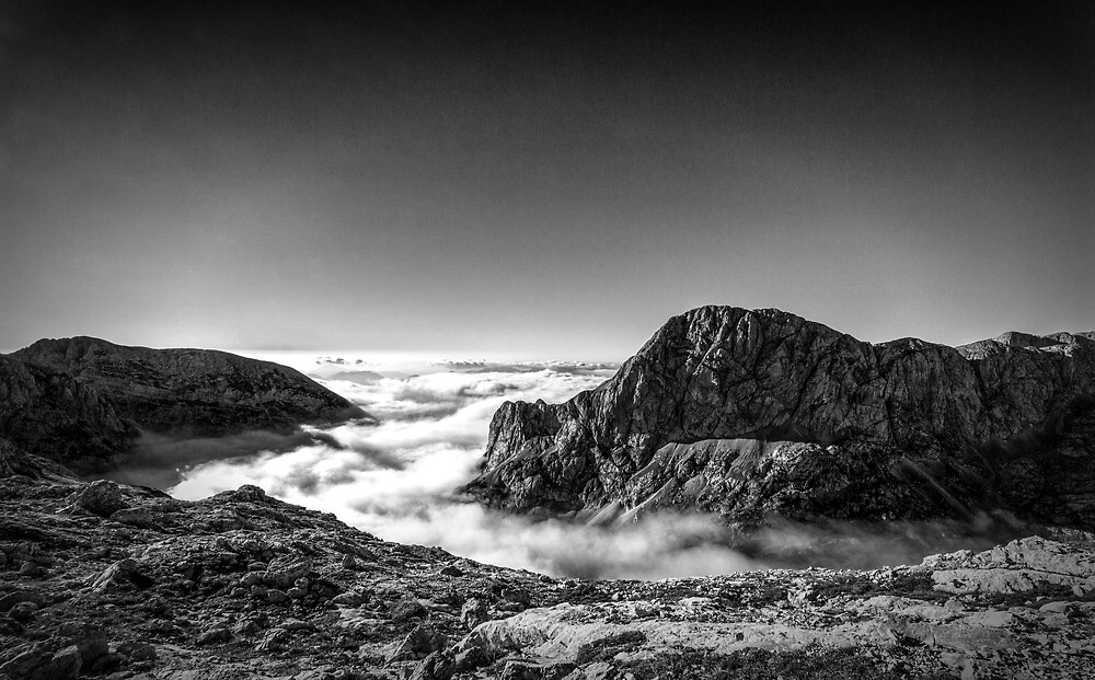 Above the clouds by Ian Hufton