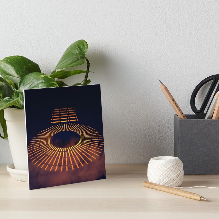 Carbon-freezing Chamber Art Board Print