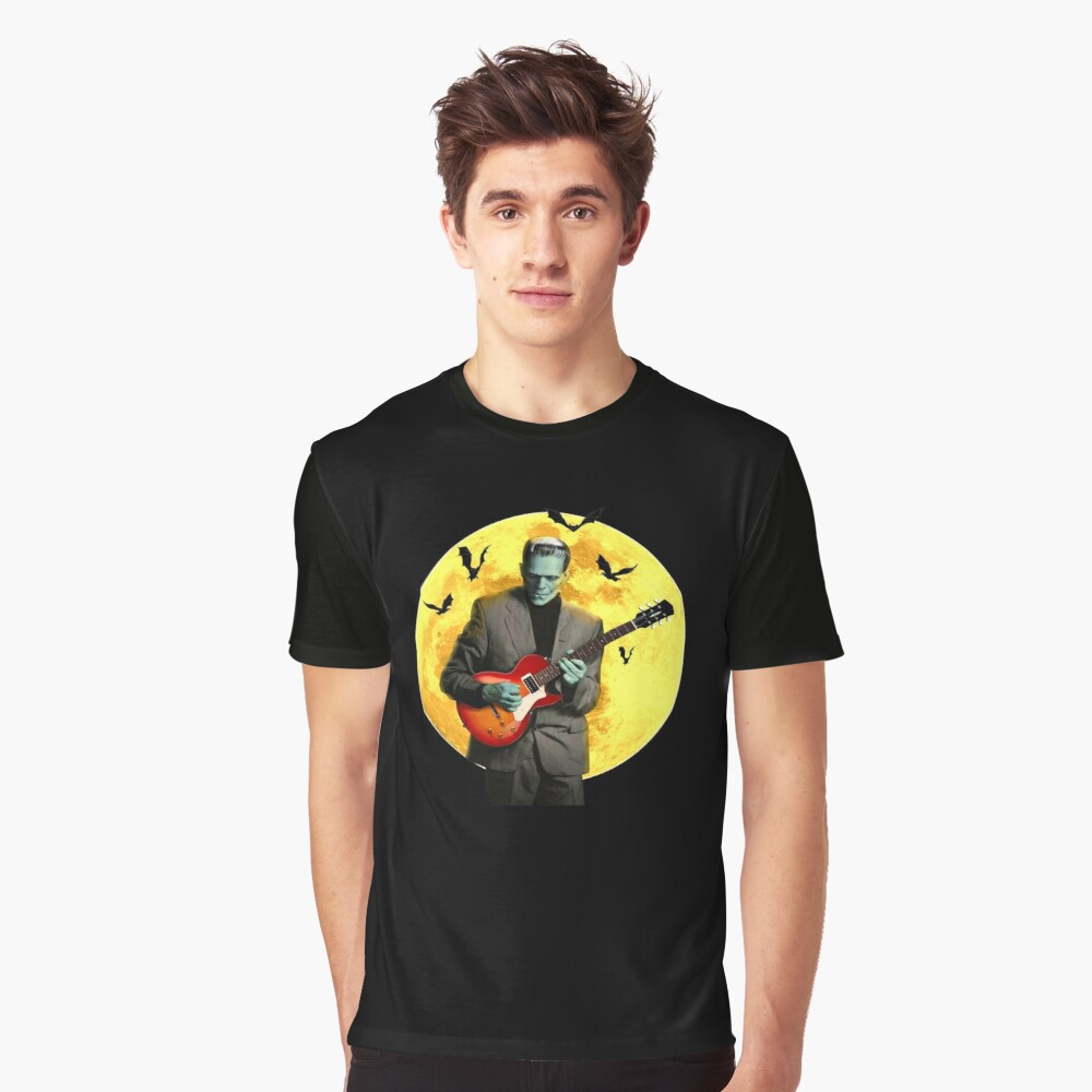 Frankenstein Plays Electric Guitar Graphic T-Shirt