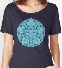 Celestial Celtic Knotwork Pentacle Women's Relaxed Fit T-Shirt