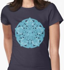 Celestial Celtic Knotwork Pentacle Women's Fitted T-Shirt