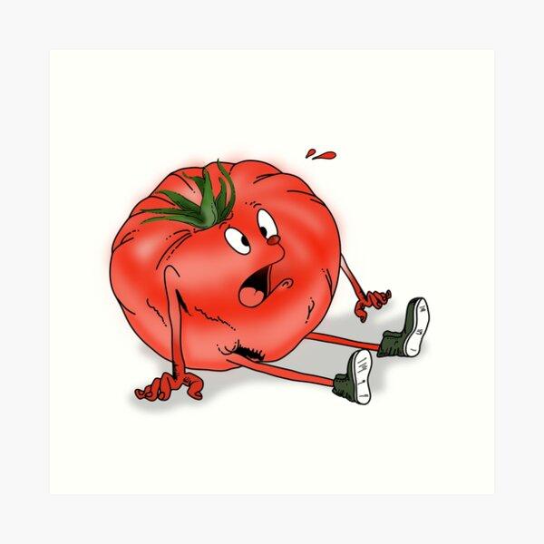 Confused heirloom tomato Art Print
