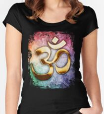 Om Meditation Women's Fitted Scoop T-Shirt