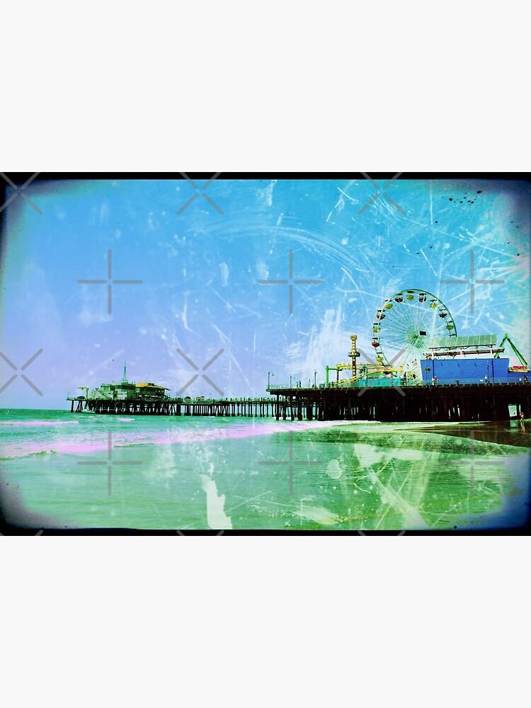 Blue and green Santa Monica Pier by stine1