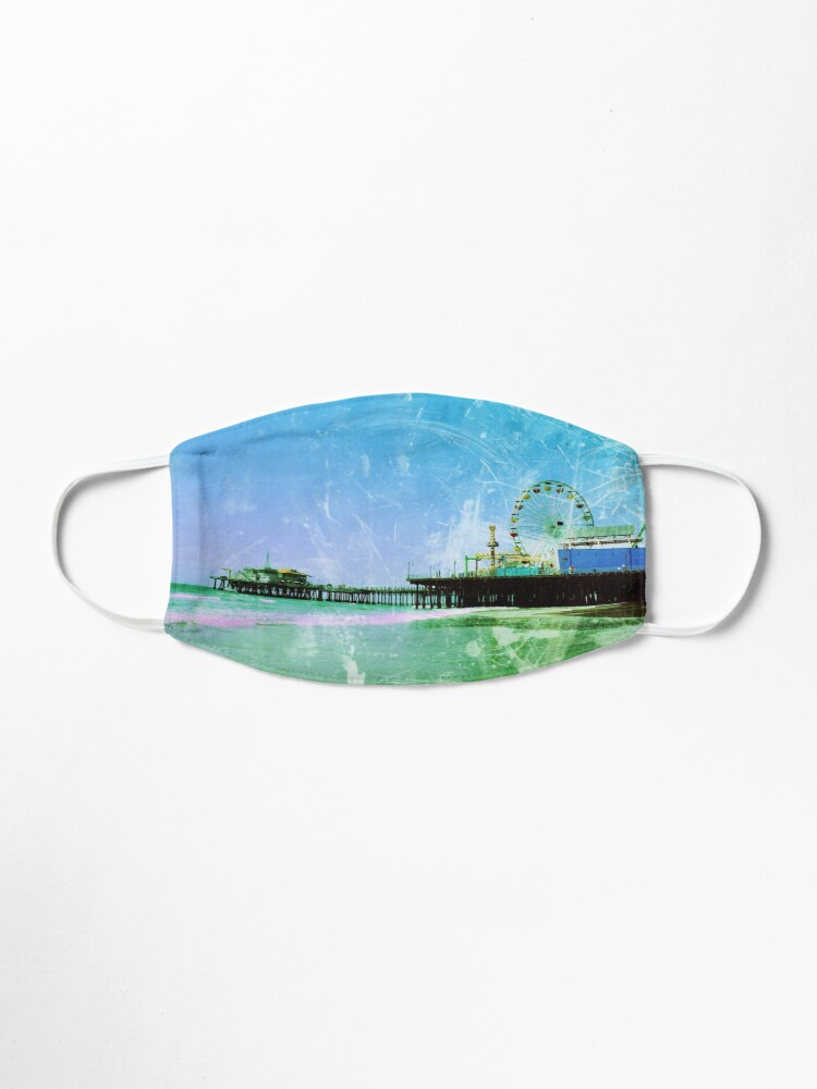 Alternate view of Blue and green Santa Monica Pier Mask
