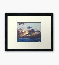 Sunset on the Solent Framed Print