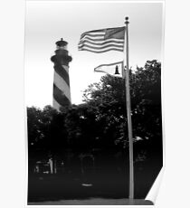 St Augustine Lighthouse and Flages Poster