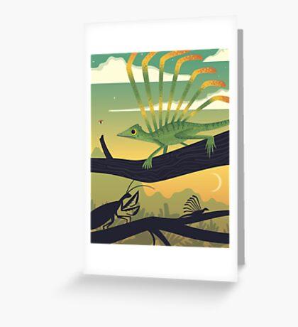 Longisquama Sunset Greeting Card
