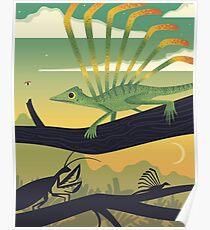 Longisquama Sunset Poster