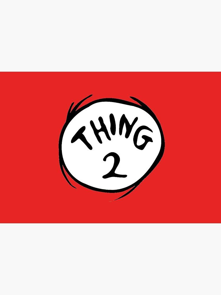 Thing 2 Emblem RED Seuss by MononokeArts
