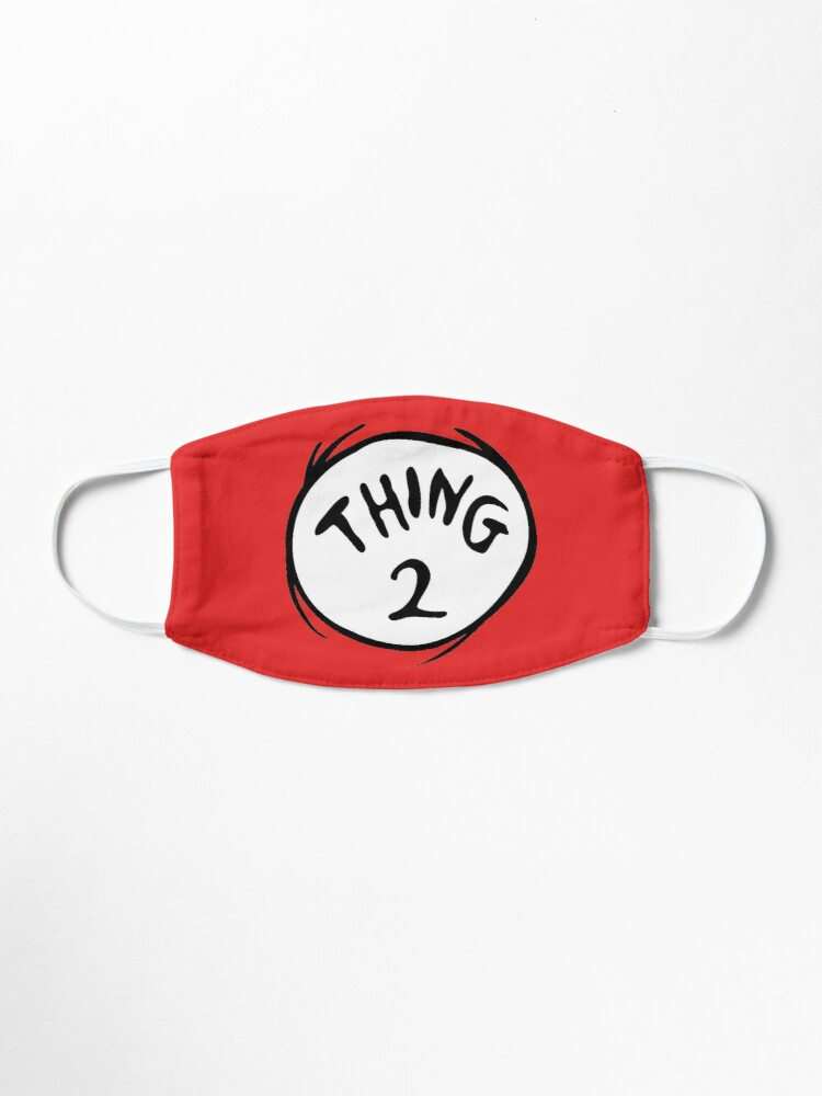 Alternate view of Thing 2 Emblem RED Seuss Mask