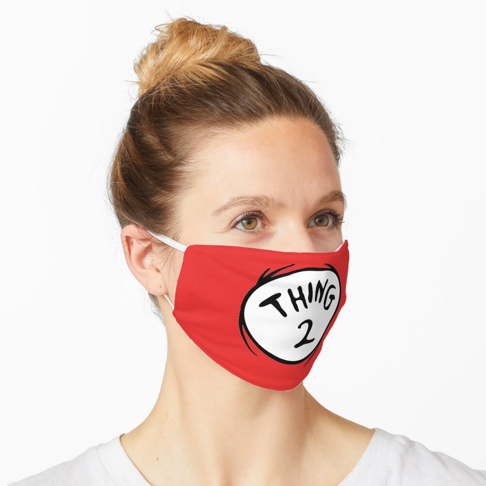 Thing 2 Emblem RED Seuss Mask
