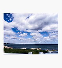 Clouds over Marblehead Neck Photographic Print