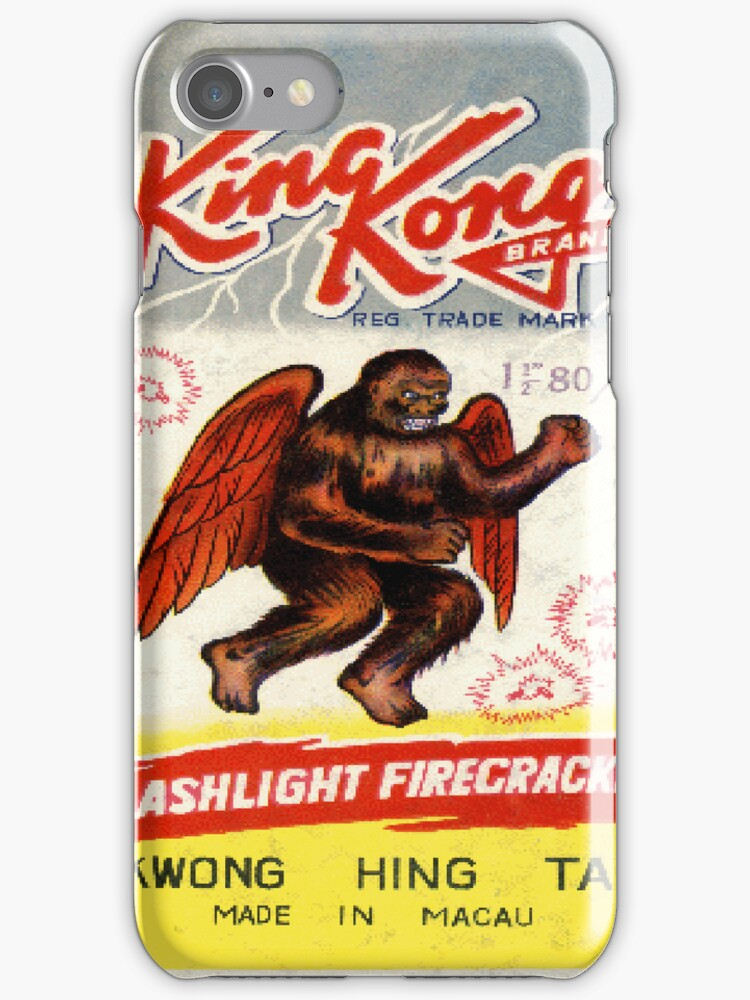 Vintage Firecracker Pack iPhone Case Series: King Kong, Bitches by SESSHP