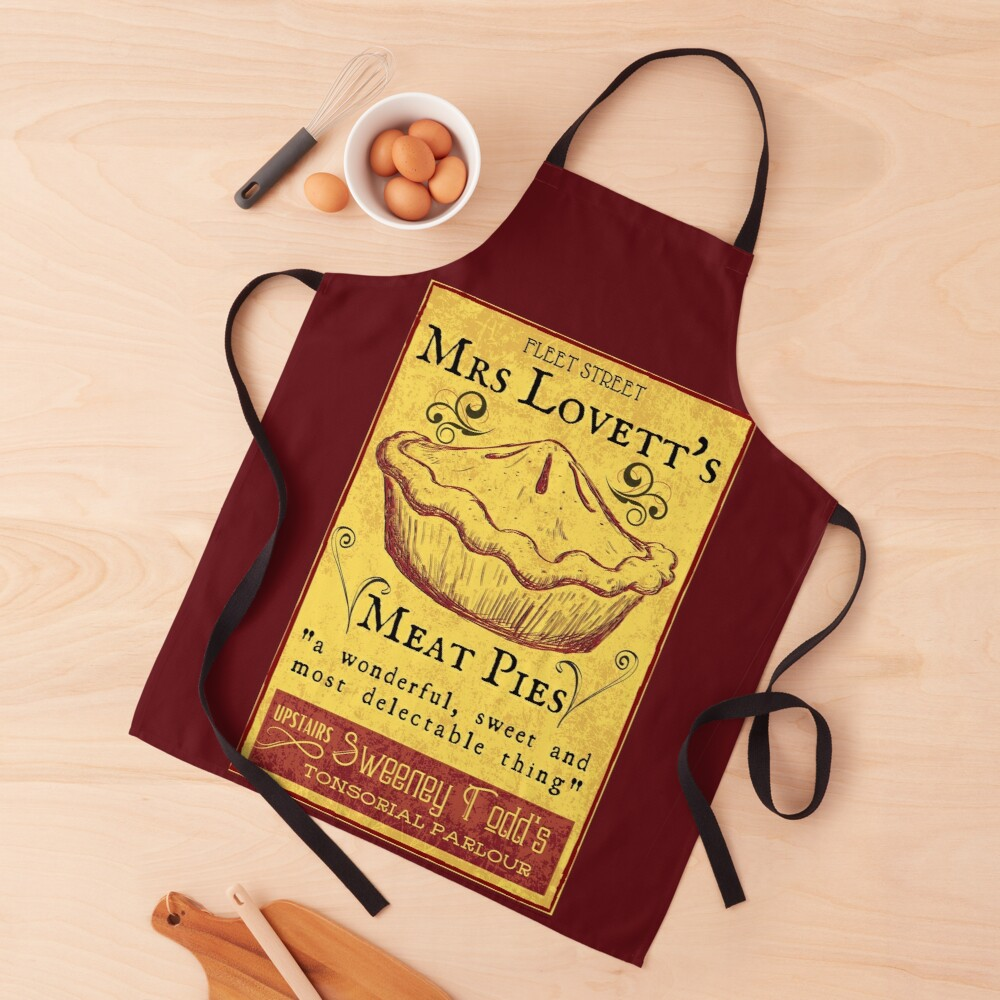 Mrs Lovett's Meat Pies - Sweeney Todd Musical Apron