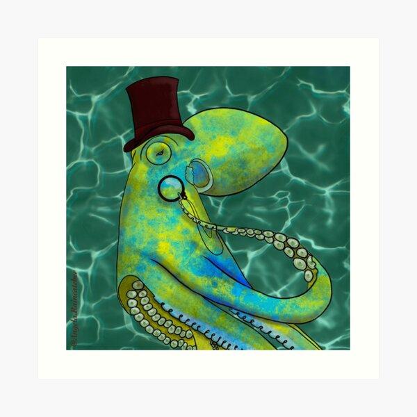 Gentleman Octopus Art Print