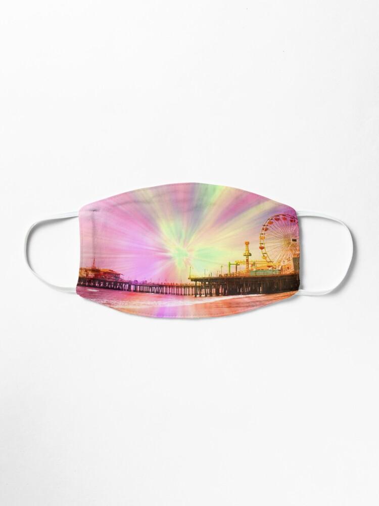Alternate view of Pink Explosion Santa Monica Pier Mask