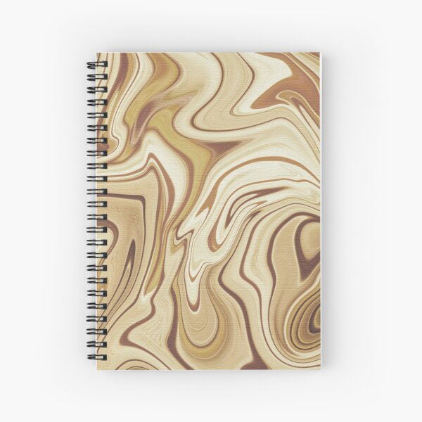 SWIRLY WOOD RINGS Spiral Notebook