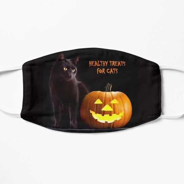 Happy Black Cat Halloween  Flat Mask