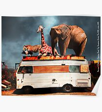 Barnum and Baileys Fabulous Road Trip Vacation Across The USA Circa 2013 5D22705 with text Poster