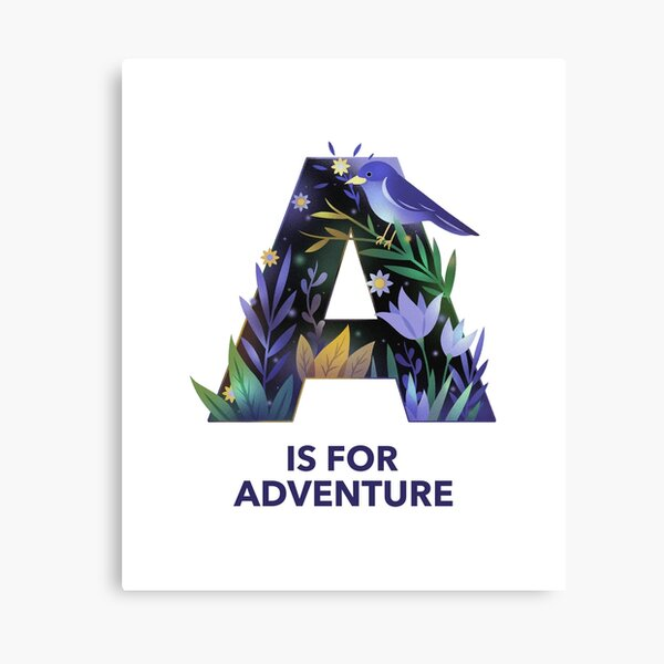A is for adventure Canvas Print