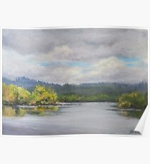 Original Plein Air Landscape Painting - Summer Sky Poster