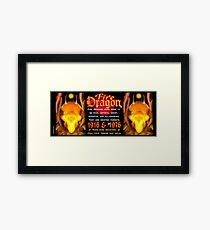 1976 2036 Chinese zodiac born in year of Fire Dragon  Framed Print