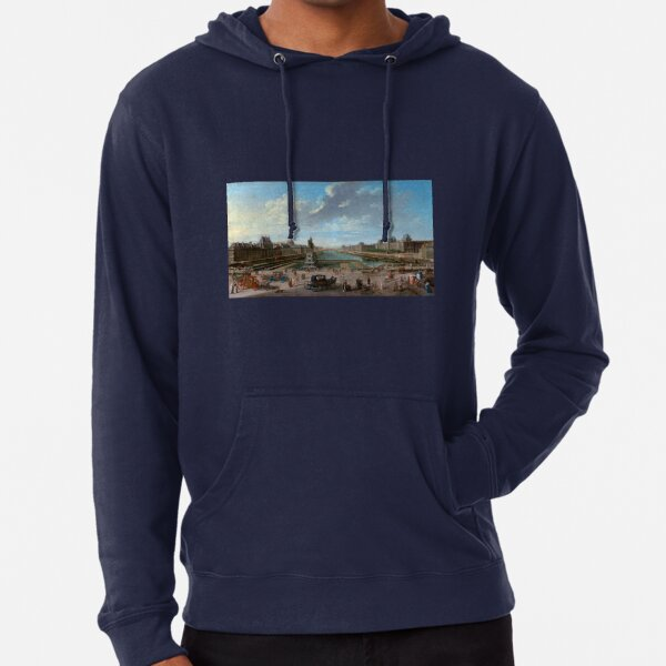 Jean-Baptiste Raguenet A View of Paris from the Pont Neuf Lightweight Hoodie