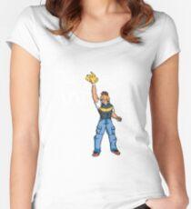 Poké-MAN: I HAVE THE PIKAAAAAAAA! Women's Fitted Scoop T-Shirt