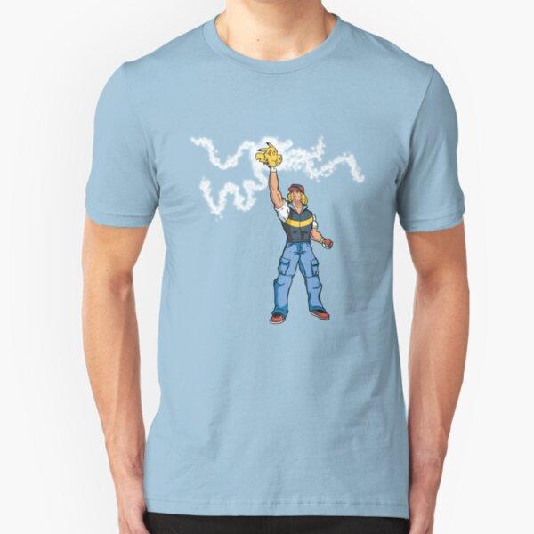 Poké-MAN: I HAVE THE PIKAAAAAAAA! Slim Fit T-Shirt