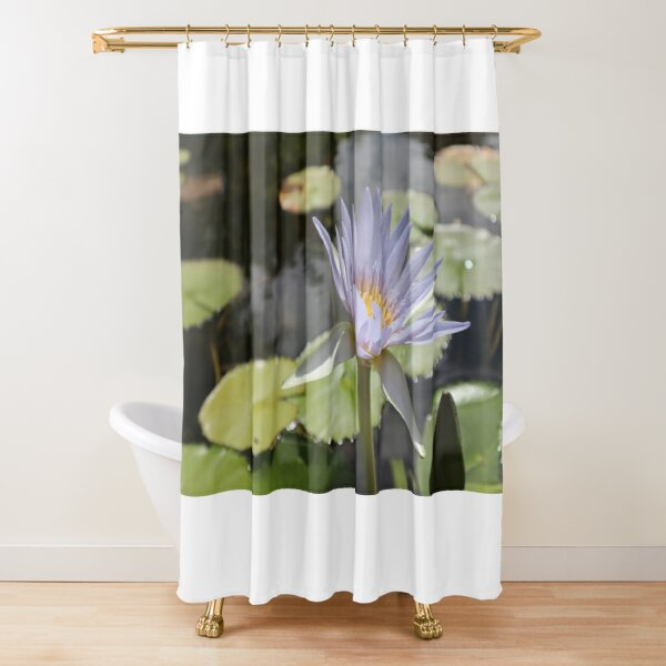 Water Lilly flower Shower Curtain