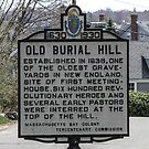 Old Burial Hill In Marblehead by Rebecca Dru