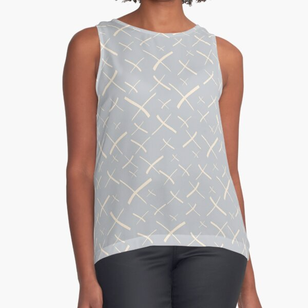Star Crosses Light | Pattern Sleeveless Top