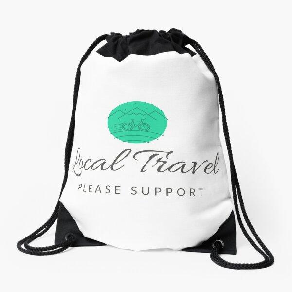 Local Travel Support Drawstring Bag