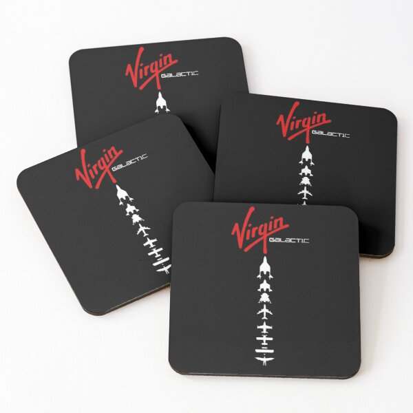 Virgin Galactic DNA of Flight  Coasters (Set of 4)