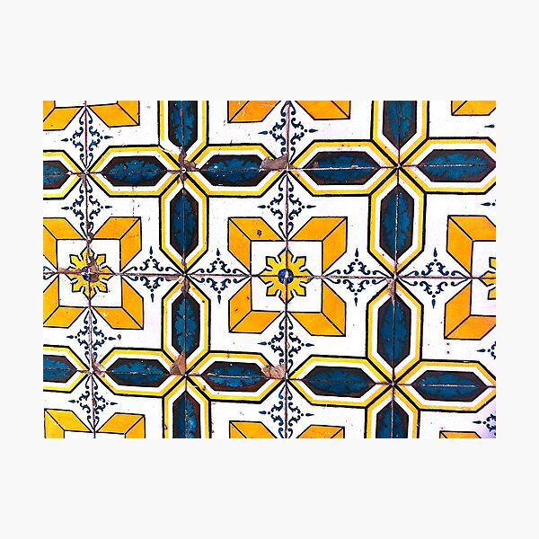 Portugal Tile Number Seventeen Photographic Print